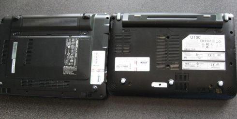 Left: Asus Eee PC 1000H / Right: MSI Wind U100