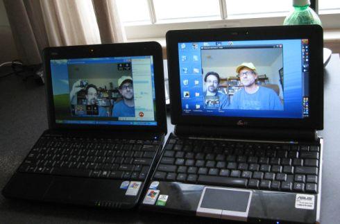 Left: MSI Wind U100 / Right: Asus Eee PC 1000H