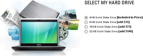 Dell Inspiron Mini 9 with 32GB SSD option