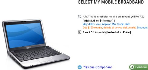 Dell Inspiron Mini 9 with AT&T plan