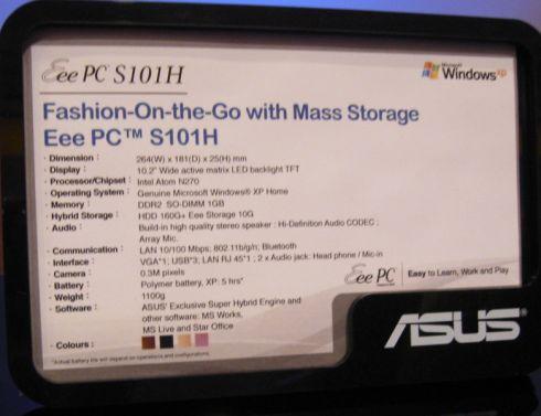ASUS EEE PC S101H WINDOWS 8 X64 TREIBER