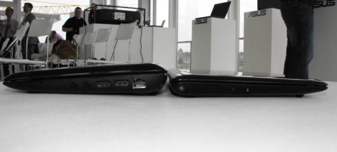 Left: Eee PC 1005HA / Right: Eee PC 1008hA