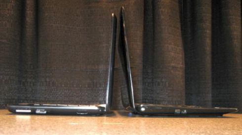 Left: HP Mini 1000 / Right: Asus Eee PC 1008HA