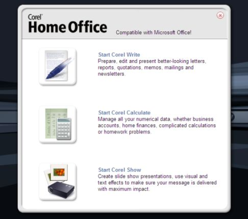 corel home office
