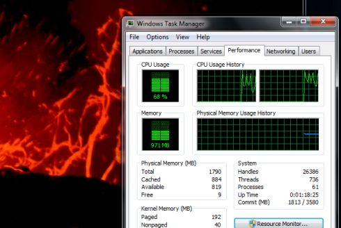 CPU utilization while watching 720p video