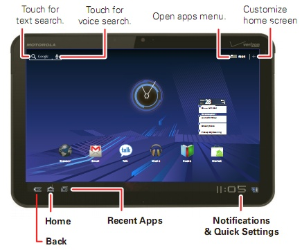 motorola xoom user manual gives an overview of the tablet and of rh liliputing com user manual android tablet user manual android tablet