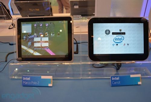 Android tablets with Intel chips