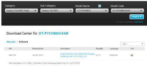 Samsung Kies for Mac