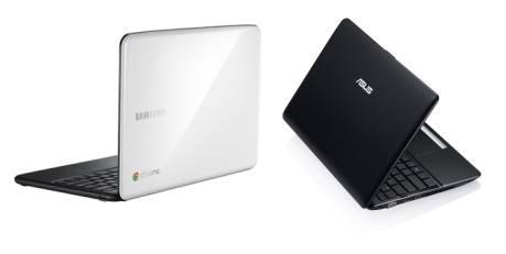 Samsung Series 5 Chromebook and Asus Eee PC 1215B notebook