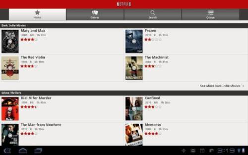 NetFlix for Android tablets