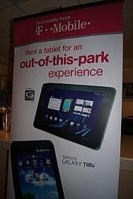 T-Mobile baseball tablet rentals