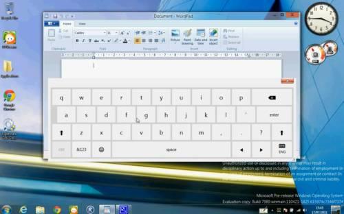 first look at windows 8 virtual keyboard handwriting input liliputing. Black Bedroom Furniture Sets. Home Design Ideas