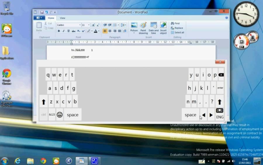 First look at Windows 8 virtual keyboard, handwriting input - Liliputing