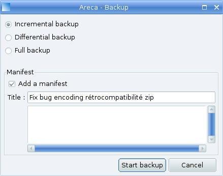 Areca Backup