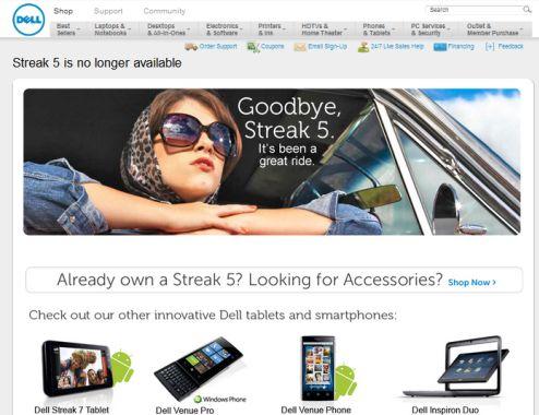 Dell Streak EOL