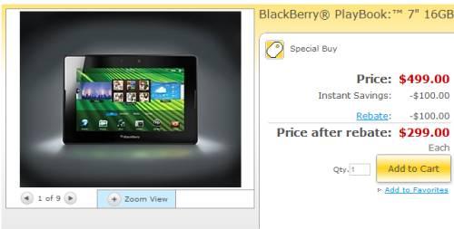BlackBerry PlayBook $299