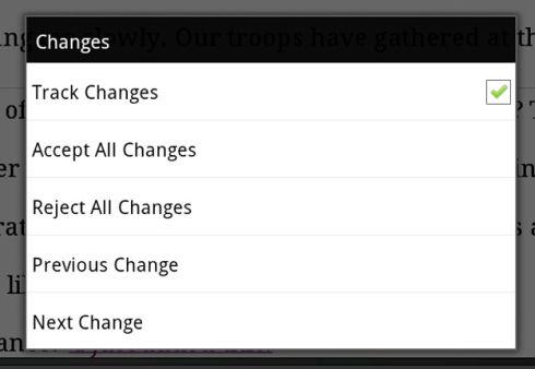 TextMaker track changes