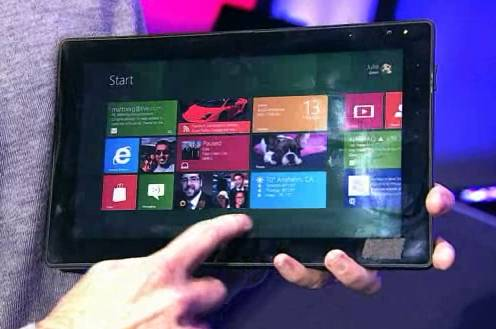 Windows 8 on an ARM-based tablet
