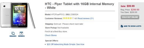 HTC Flyer at Best Buy