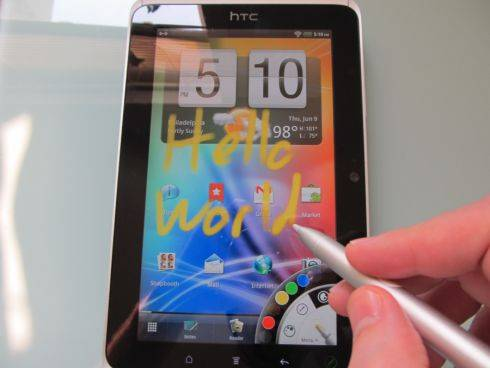 HTC Flyer with Stylus