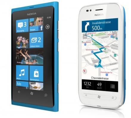 Nokia Lumia 800 and Lumia 710