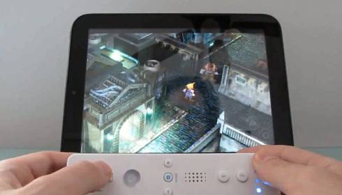 HP TouchPad with Wiimote