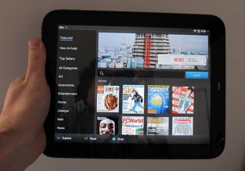 Zinio HP TouchPad