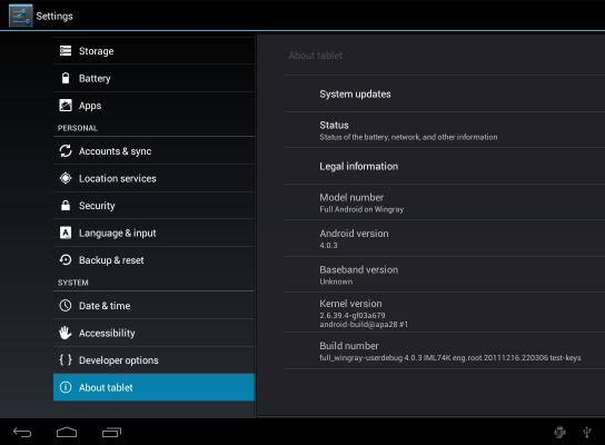 Motorola XOOM with Android 4.0.3