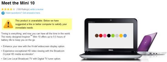 Dell Mini discontinued