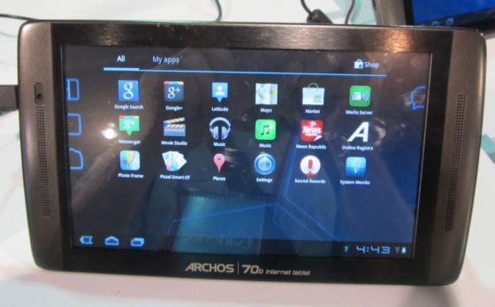Archos 70b $199 Honeycomb tablet with Android Market ...