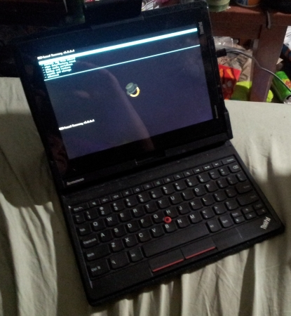 Lenovo ThinkPad Tablet with ClockworkMod