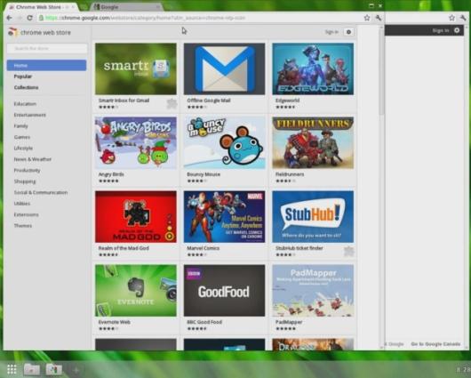Google Chromium OS with Aura Shell