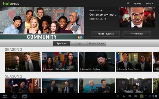 Hulu Plys for tablets