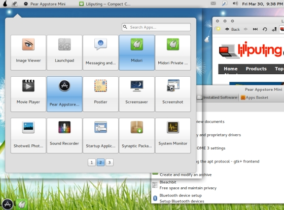Pear Linux 4 netbook edition