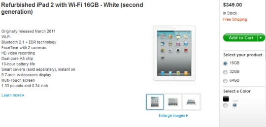 Refurbished iPad 2