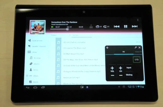 Sony Tablet S with Android 4.0 and small apps