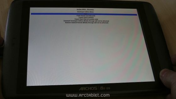 Archos 80 G9 with special developer edition firmware