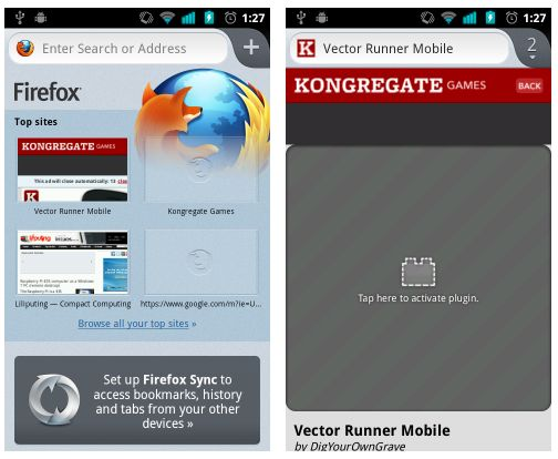 Firefox 14 beta for Android