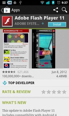 Adobe Flash Player 11 for Android