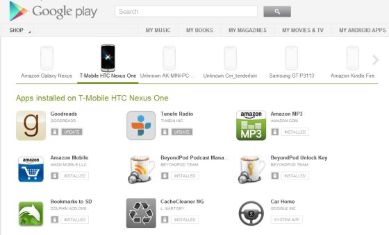 Google Play My Android Apps