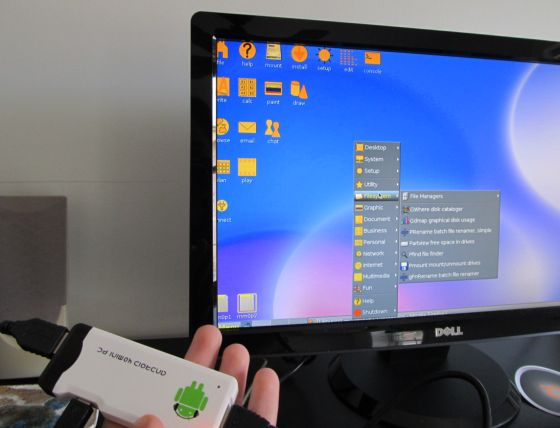 Puppy linux on the mk802 74 mini pc liliputing