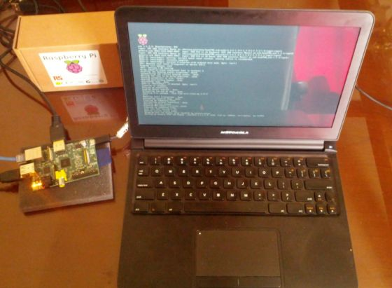 Raspberry Pi with Motorola Lapdock