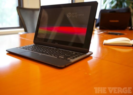 Toshiba slider tablet prototype