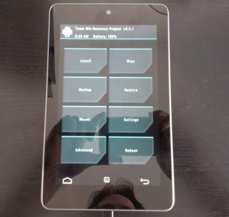 Google Nexus 7 with TWRP