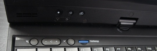 Lenovo ThinkPad X230T buttons and hinge