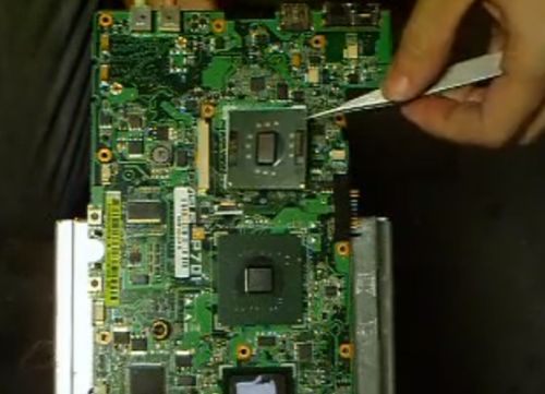 Asus Eee PC (the first netbook) hack: Upgrading the CPU ...