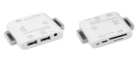 Universal USB Hub and Card Reader for Apple iPad / Galaxy Tabs