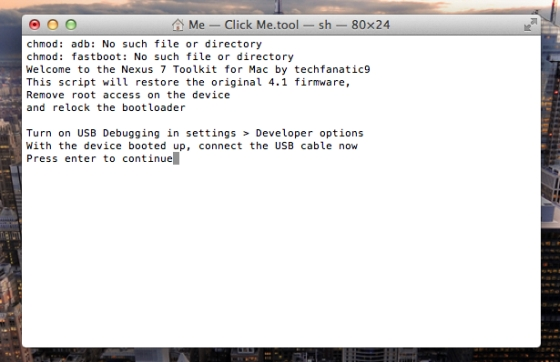 Mac Toolkit for Google Nexus 7