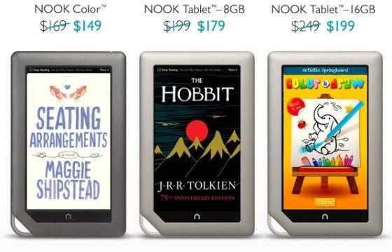 B&N NOOK tablets