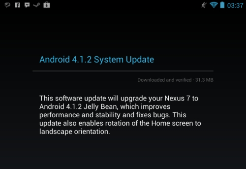 Google Android 4.1.2